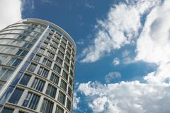 Verticality of modern building in Hamburg Royalty Free Stock Images