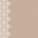 Vertically seamless damask background Stock Images