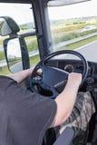 Verticalmente foto del camión de conducción Fotografía de archivo libre de regalías