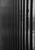 Verticle bar fence perspective Royalty Free Stock Photos