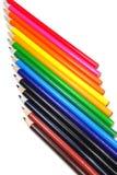 Verticle a coloré l'abrégé sur crayon Photos libres de droits