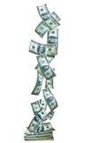 Verticle de la bandera del dinero imagen de archivo libre de regalías