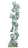 Verticle della bandiera dei soldi Immagine Stock Libera da Diritti
