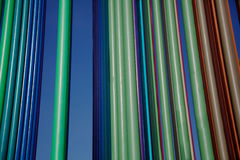 Verticle multi-color pipes landscape Stock Photos