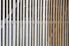 Verticle Planks of Slatted Wooden Gate Barrier Royalty Free Stock Photography
