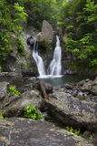 Verticle View of Bash Bish Falls royalty free stock image