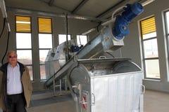 Vertido de Тhe para la basura inútil no-peligrosa en Yana, Kremikovtzi, Bulgaria Combustible derivado basura de RDF del combusti foto de archivo