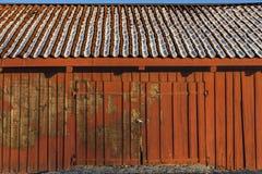 Vertiente de madera roja Imagen de archivo libre de regalías