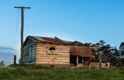 Vertiente envejecida de la granja Imágenes de archivo libres de regalías