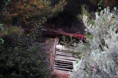 Vertiente pintoresca o mini granero en desierto fotografía de archivo libre de regalías