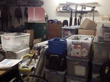 Vertiente sucia llena del almacenamiento imagen de archivo libre de regalías