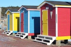 Vertientes brillantemente coloreadas de los cuartos del cambio Fotografía de archivo