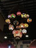 Vertientes de la lámpara de Colorfull Fotografía de archivo libre de regalías