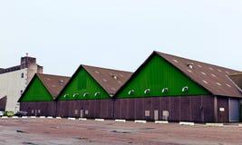 Vertientes grandes en un muelle, Aarhus, Dinamarca Imagen de archivo
