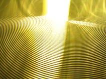 A vertigem amarela do ouro roda sulcos dos círculos Foto de Stock Royalty Free