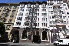 Vertigine e Alfred Hitchcock dell'hotel immagine stock