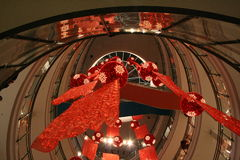 Vertigini in un centro commerciale Fotografie Stock