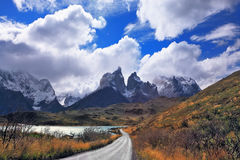 Vertiginous landscape in the Chilean Andes Royalty Free Stock Photos