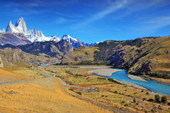 Vertiginous landscape in the Chilean Andes Royalty Free Stock Photo
