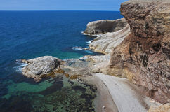 Vertiginous seascape, Newfoundland Stock Image