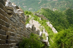 Vertiginous section of the great wall of china. Unrestored section of the great wall in hebei province Royalty Free Stock Photography