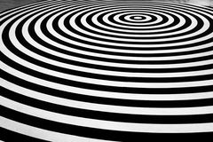 Vertigo. Stripes black and white on floor Stock Photography