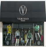 Vertigo Paris Storefront Stock Photos