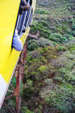 Vertigo or train cruising over a forest Royalty Free Stock Images