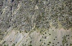 Vertikal bakgrund för berglutning royaltyfria foton