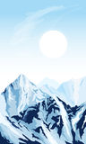 Vertikal bergbakgrund Royaltyfria Bilder