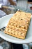 Vertikal bild för lasurstenlagerkaka Royaltyfri Fotografi