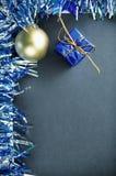 Vertikal bild för säsongsbetonat julbaner Arkivfoton