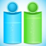 Vertikal-Fahne-Chemie-Flasche-Bio--Produkt-Produkt Stockbild