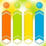 Vertikal-Fahne-Satz-Thema-Frühling-Frische-Informationen Lizenzfreies Stockbild