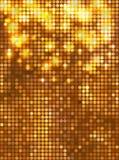Vertikal guldmosaik Arkivfoton