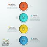 Vertikal infographic designmall stock illustrationer