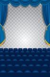 Vertikal konsertblåttetapp vektor illustrationer