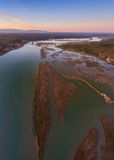 Vertikal panorama av floden Arade arkivbilder