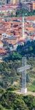 Vertikal panorama av kristna och islamiska symboler av faiths Fotografering för Bildbyråer