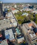 Vertikal panorama Raleigh i stadens centrum 3/2016 Royaltyfria Bilder