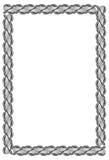 Vertikal ram för svartvit guilloche Rastergemkonst arkivfoton