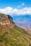 Vertikal sikt av den Chicamocha kanjonen Arkivfoton
