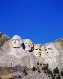 Vertikal sikt av Mt. Rushmore, SD Arkivbild