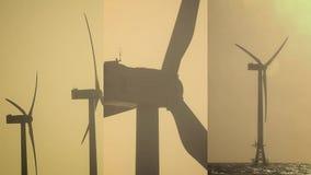 1 3 Vertikal video för sociala massmediaapplikationer på mobila enheter windmills för kalkon för bozcaadafoto solnedgång tagna Ko stock video