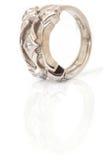 vertikal white för guldcirkel Royaltyfria Bilder