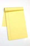 vertikal yellow för blanka sidor Arkivfoto