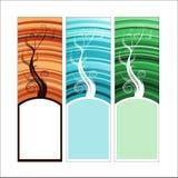 vertikala baner stock illustrationer