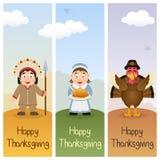 Vertikala baner för tacksägelsedag [1] Royaltyfria Bilder