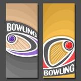 Vertikala baner för vektor för att bowla Royaltyfria Foton