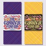 Vertikala baner för vektor för karnevalFunfair Royaltyfri Bild